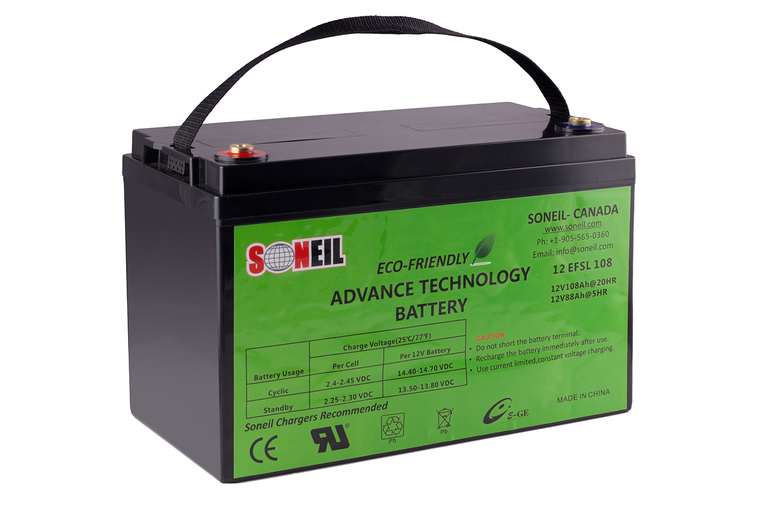 12V 108AH Advance Technology Battery