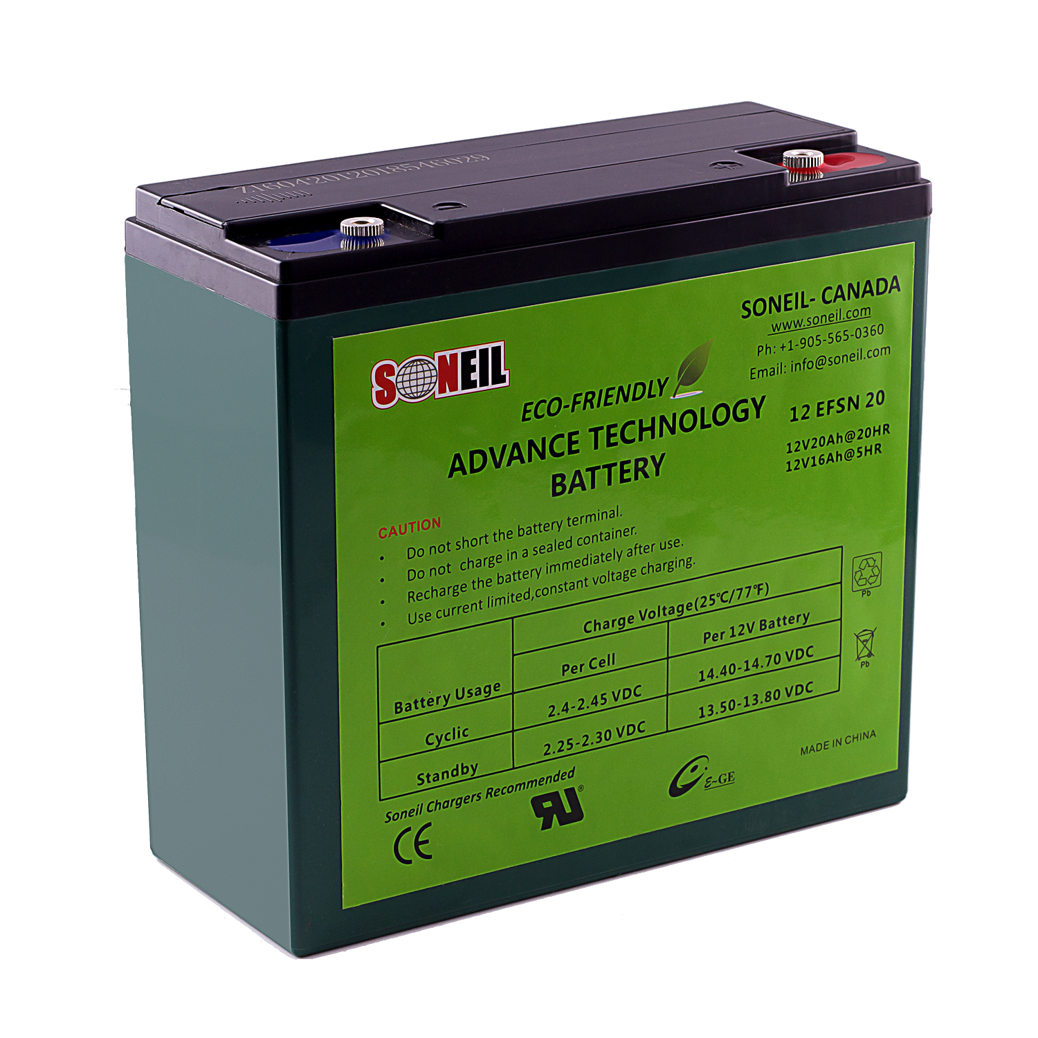 12V 20 Ah Advance Technology Battery