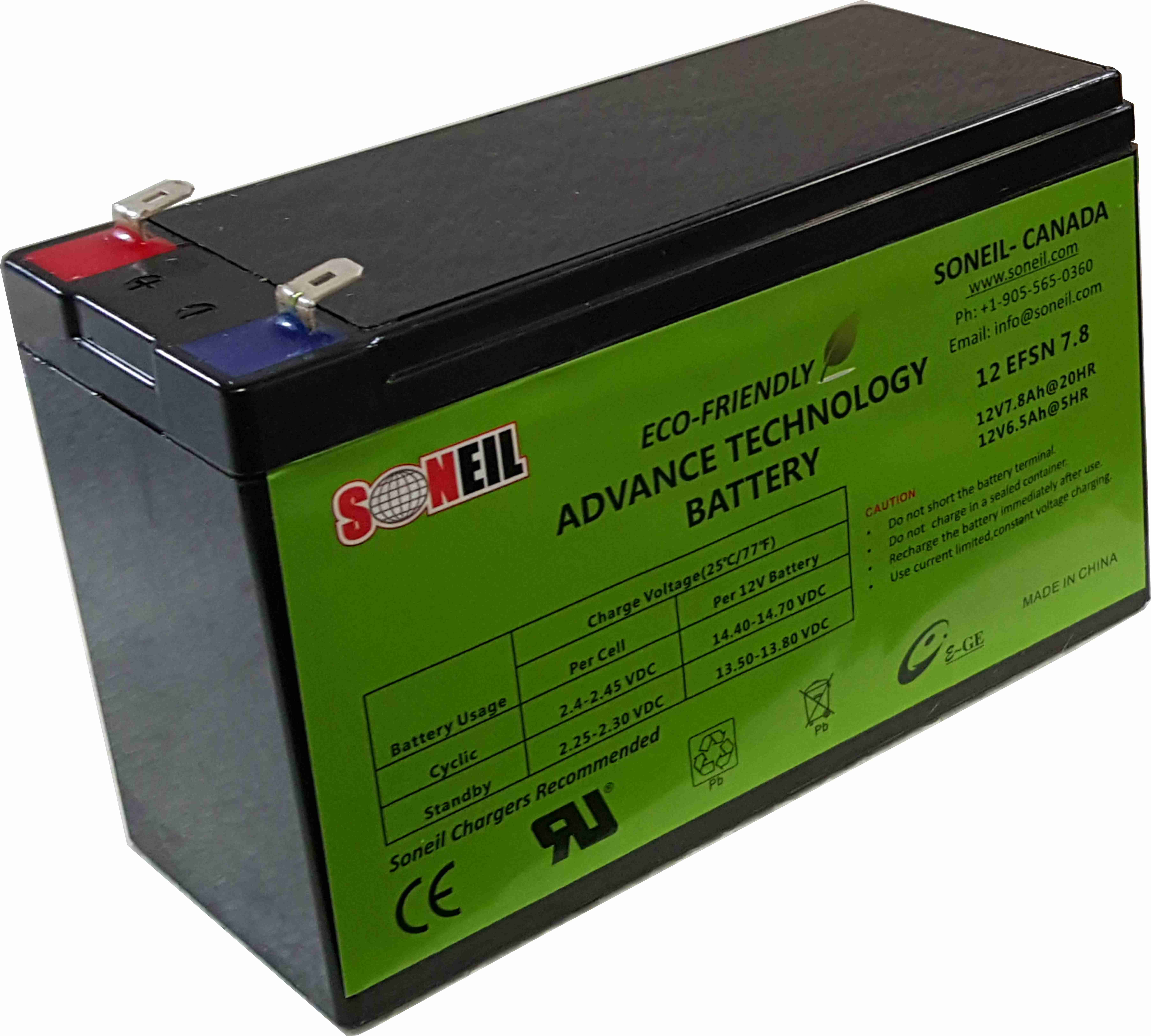 12V 7.8Ah Advance Technology Battery