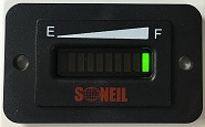 Rectangle Battery Gauge SL-RBM-1224